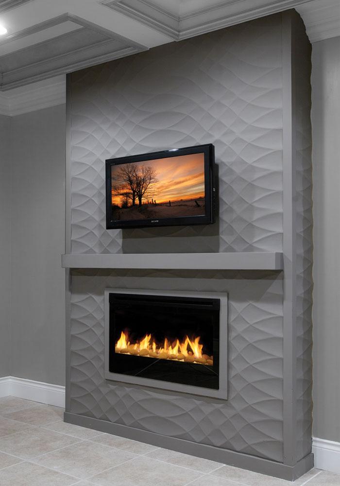 3d wall panels fireplace